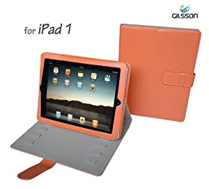 Gilsson Apple iPad1 PU Leather Adjustable Stand Case Cover for Apple iPad 1 3G Wifi 16GB 32GB 64GB (ORANGE Color) SPECIAL PROMO PRICE