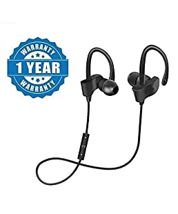 CRAYOTALK QC-10 Bluetooth Earphone Wireless Headphones for Mobile Phone Sports Stereo Jogger,Running,Gyming Bluetooth Headset Compatible with All Devices(Multicolour)