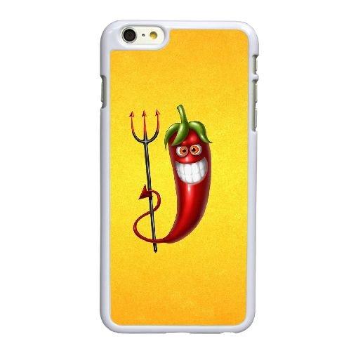 H1X28 rouge piment I6N8MF coque iPhone 6 Plus de 5,5 pouces cas de couverture de téléphone portable coque blanche RW6GXU8WL