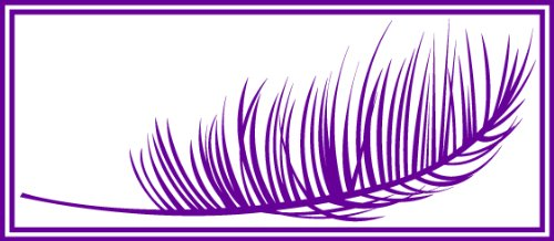 23 Purple Leaves - Palm Leaf Decorative Floral Wall Decal / Sticker (Purple, 53