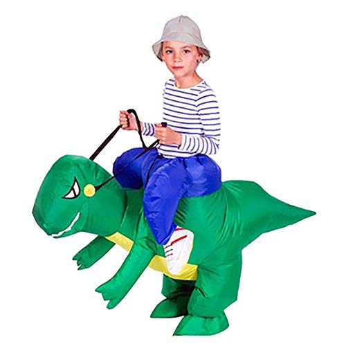 ts Inflatable Cartoon Ride Dinosaur Halloween Party Role Play Costume Dinosaur Clothes Children Inflatable Dress Party Clothing Children Inflatable Dinosaur L ()