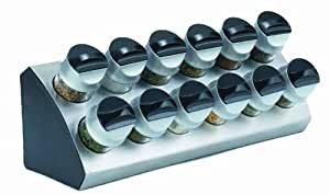 Trudeau Wedge 12-Bottle Spice Rack with Spices