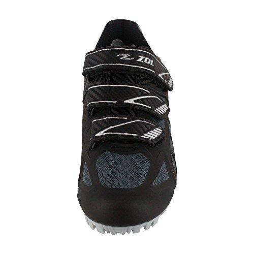 Zol Predator MTB bicicleta de montaña y Zapatillas de deporte para ciclismo, Black with Silver