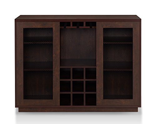 HOMES: Inside + Out HFW-1772C6 Eris Buffet Rustic, Vintage Walnut (Buffet Walnut)