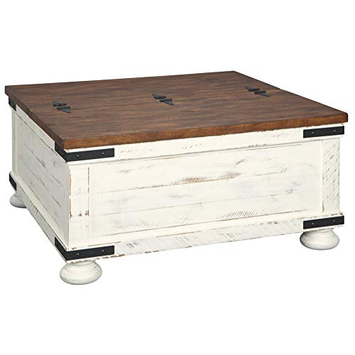 Signature Design by Ashley - Wystfield Farmhouse Coffee Table, White/Brown