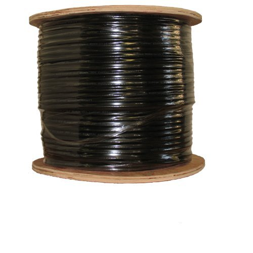 COAXIAL BLACK CABLE RG6 1000FT COAX CATV RG-6 1000' TV BULK by Satmaximum