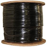 COAXIAL BLACK CABLE RG6 1000FT COAX CATV RG-6 1000 TV BULK
