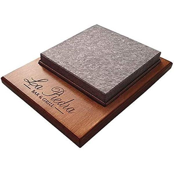 Piedra para Carne Piedrasar de 20x20 Personalizado: Amazon ...