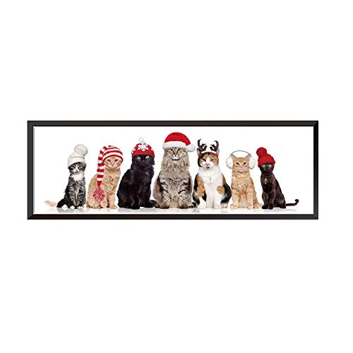 Aland Christmas Cat Removable Wall Sticker Decal Picture Living Room Bedroom Decor