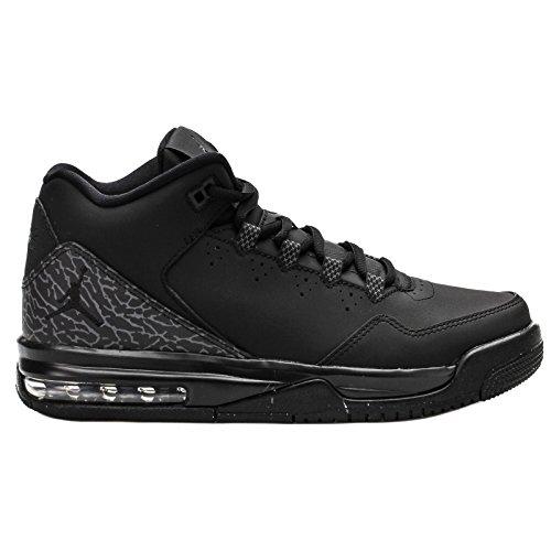 NIKE Jordan Kids Jordan Flight Origin 2 BG Black/Black/Dark Grey Basketball Shoe 5.5 Kids US by NIKE