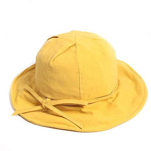 LDDENDP Fisherman Hat Female Student Hat Fisherman Hat Boonie Hunting Wide Hat Spring and Summer Casual Wild Sun Hat Visor Sweet Cute Bow Washbasin 100% Cotton Fisherman Hat Hiking Hood Cap Adjustable