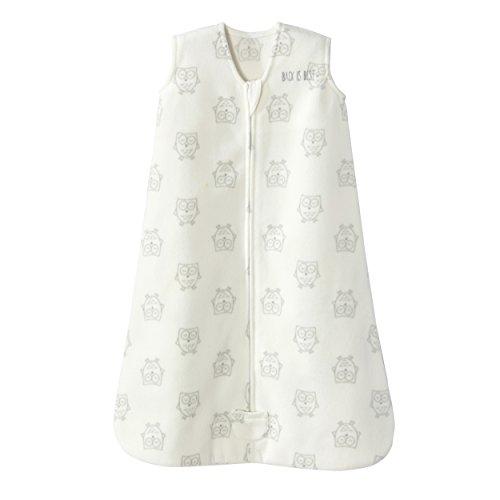 Halo Sleepsack Wearable Blanket Micro Fleece - Owls Cream, Size XLarge