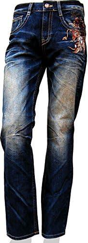 (クラウド72ジーンズ) 633 メンズ ストレッチ ストレート デニム ジーンズ
