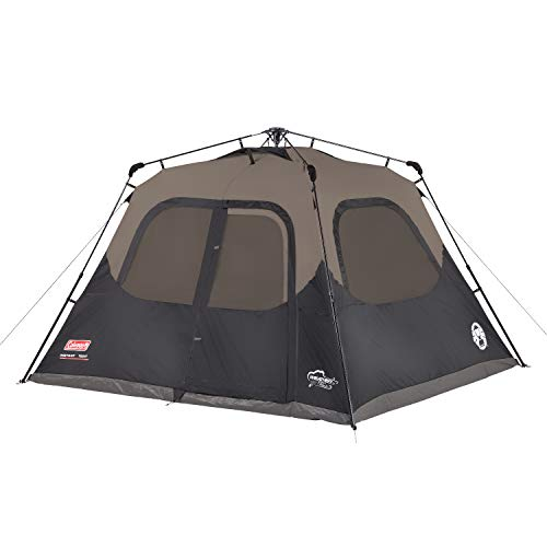 (Coleman 6-Person Cabin Tent with Instant Setup | Cabin Tent for Camping Sets Up in 60 Seconds)