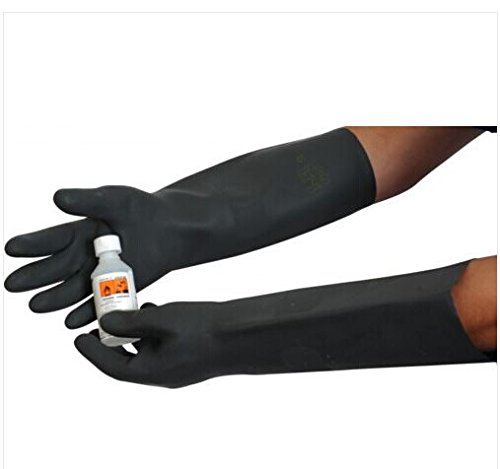 Heavy-Duty-Natural-Rubber-Glove-Gauntlet-Chemical-Acid-Chemical-Resistant-Glove-Home-Cleaning