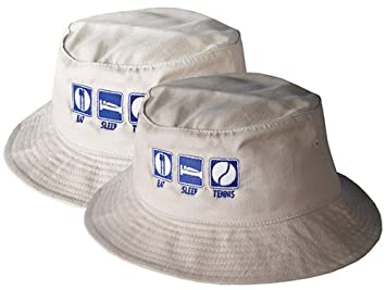 3a97e849367 Image Unavailable. Image not available for. Colour  Eat Sleep Tennis Bucket  Hat (White)