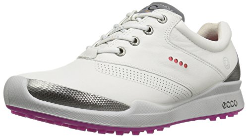 ECCO Women's Biom Hybrid Golf Shoe, White/Candy, 41 EU/10-10.5 M US