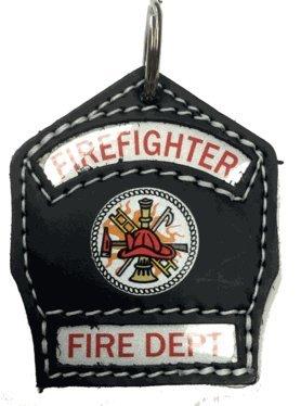 Firefighter Key Chain Shield in Black