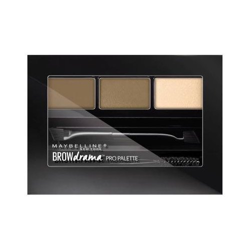 Maybelline New York Brow Drama Pro Palette, Blonde 0.1 oz (Pack of 9) by Maybelline New York