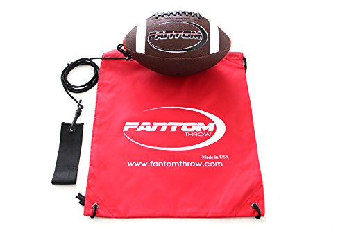 Football Junior Trainers (Fantom Throw Football Trainer - Direct Return Football Trainer - Practice Throwing & Catching Indoors/Outdoors (Junior (Junior High School - Ages 11+)))