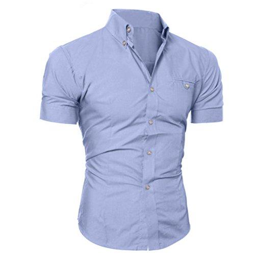 Camiseta Hombres, ❤️ Manadlian Camisa casual para hombres Slim ...