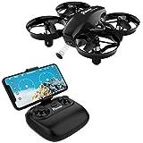 Potensic Drone con Cámara HD, Mini Drone con Modo de Inducción de Gravedad, FPV WiFi 2.4G, Altitud Hold, Modo sin Cabeza, Una Tecla de Despegue y Aterrizaje, Regalo Juguetes para Navidad, A20W Negro