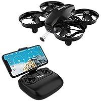 Potensic Drone con Telecamera Mini Drone Telecomando Quadricottero WiFi con Funzione di Sospensione Altitudine, modalità Senza Testa, Adatto per Principianti, Buon Regalo per Bambini Nero
