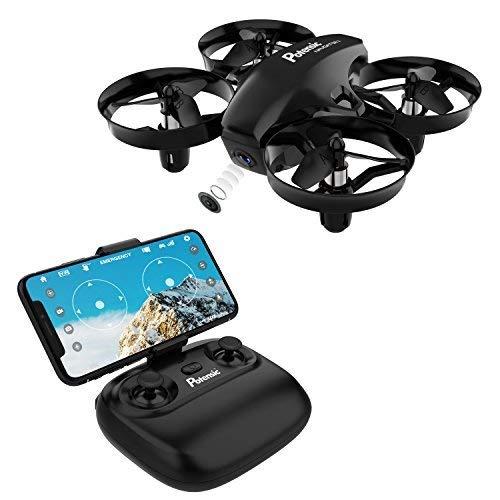 Potensic 1 Mini, WiFi FPV Nano Drone Control Remoto Altitud Hold Quadcopter para Principiantes, niños, Negro, 16 años