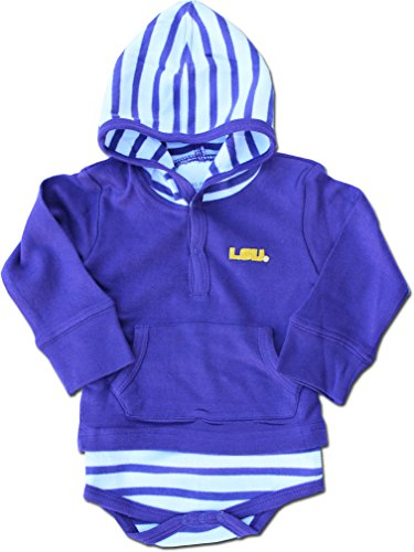 Shirt Striped Lsu Tigers (Striped Hooded Creeper (LSU Tigers) - Louisiana State University (12 Months))