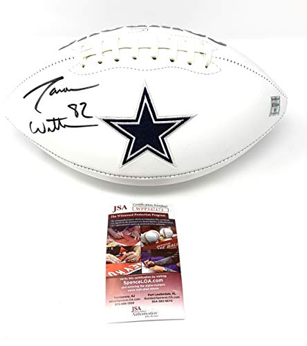 Jason Witten Dallas Cowboys Signed Autograph Embroidered Logo Football Witten Holo JSA Witnessed Certified