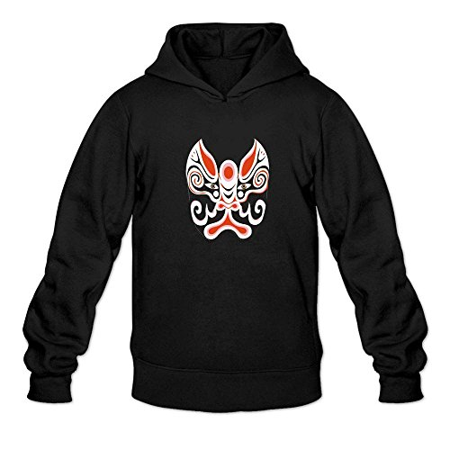 Mcczox Chinese drama mask poster 2016 fashion Men's Hoodie Sweatshirt Black ()