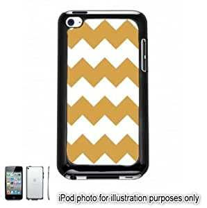 Gold Chevrons Pattern Apple iPod 4 Touch Hard Case Cover Shell Black 4th Generation