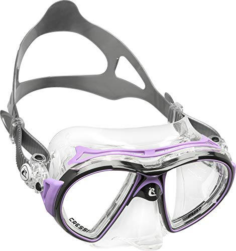 Cressi Adult Premium Low Volume Scuba Diving Mask, Crystal Silicone | Air: made in Italy