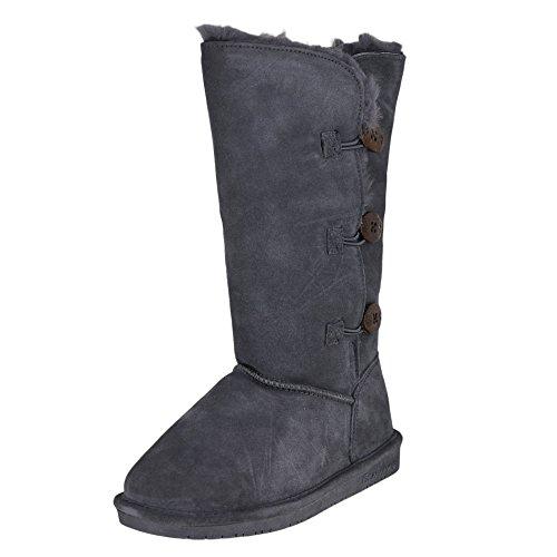 Review BEARPAW Women's Lauren Winter Boot, Charcoal, 6 M US