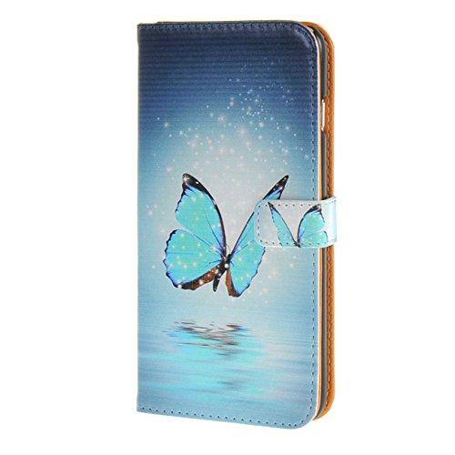 """MOONCASE Case für iPhone 6 Plus (5.5"""") Tasche Flip Leder Schutzhülle Etui Case Cover Hülle Schale / a12"""
