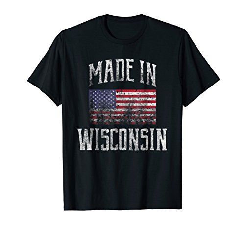 - Wisconsin USA Flag T-Shirt Made In Wisconsin