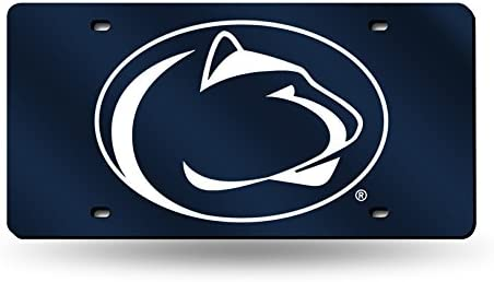 NCAA Rico Industries  Laser Inlaid Metal License Plate Tag Penn State Nittany Lions