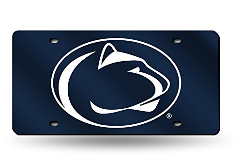 (Rico Industries NCAA Penn State Nittany Lions Laser Inlaid Metal License Plate Tag, Navy, 6