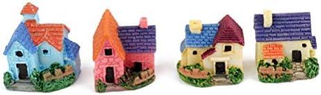 4本ミニチュアミニ盆栽家クラフトガーデン樹脂風景DIYヴィラのインテリア