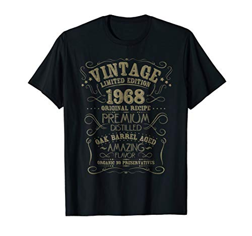 Vintage 1968 50th Birthday Shirt Grunge Distressed Gift Tee ()