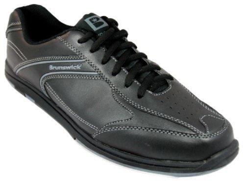 Brunswick Men's Flyer Bowling Shoes (Black Wide, 8)