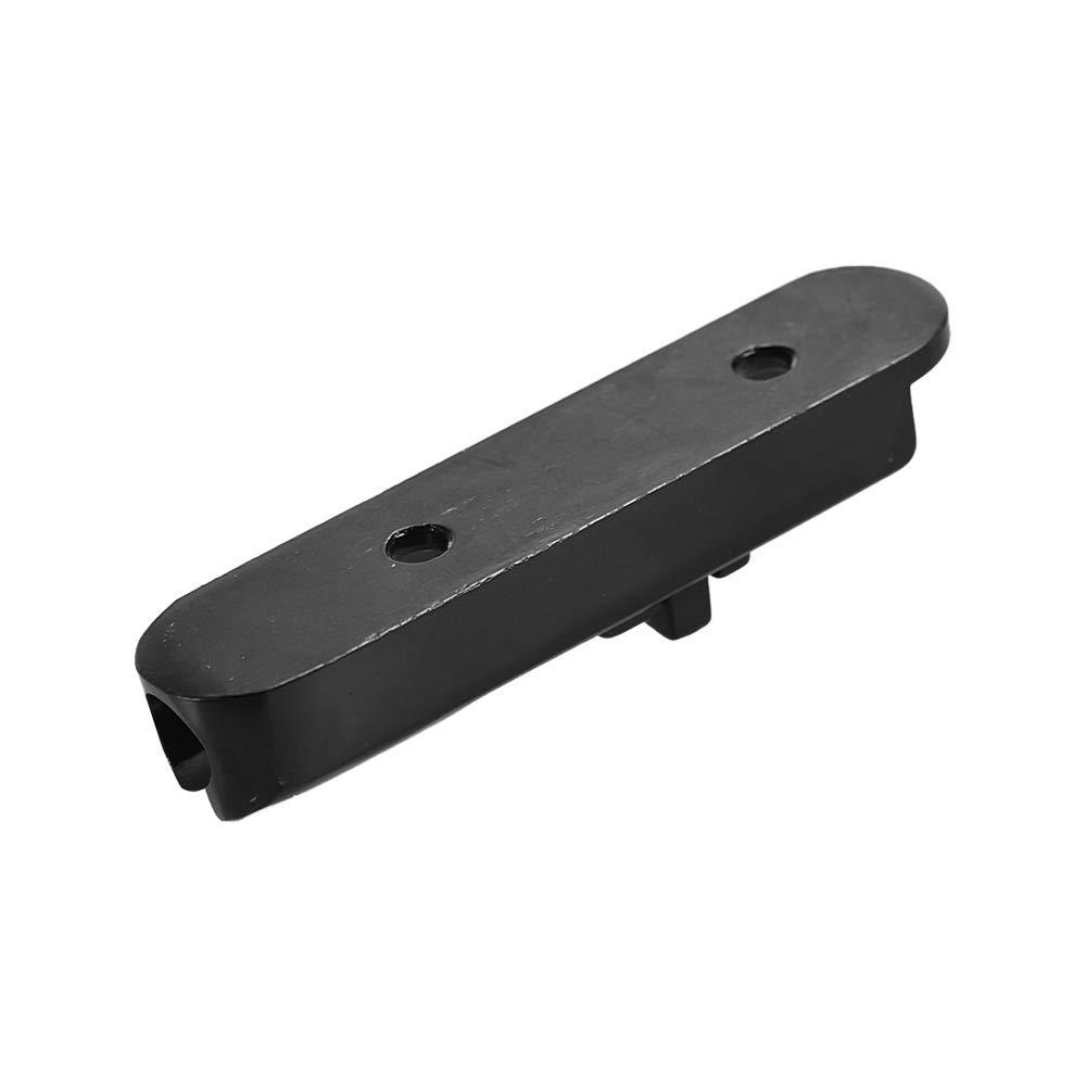 Puente de guitarra de una sola cuerda para partes de bajos el/éctricos reemplazo de paquete negro de 4 piezas