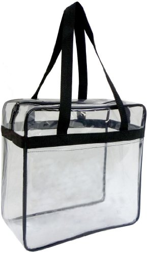 Clear Tote Bag 12 X 12 X 6 NFL Stadium Approved.