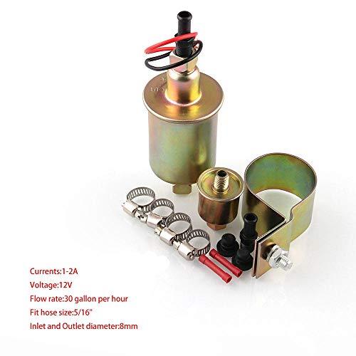 Ocamo E8012S 12V 5-9psi Kit de Bomba de Combustible eléctrico de Baja  presión de d2125fbadbaa