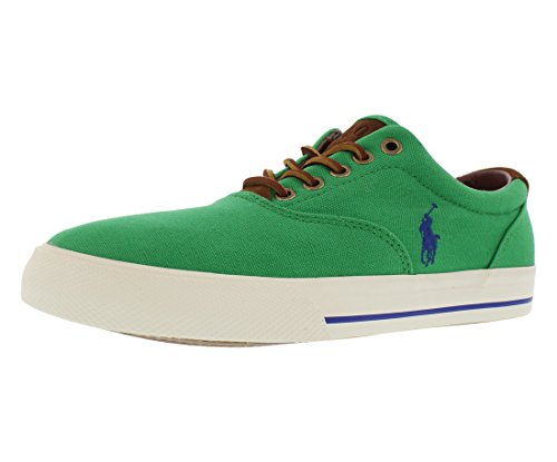 Polo Ralph Lauren Men's Vaughn Fashion Sneaker, Flag Green Suede, 7 D US