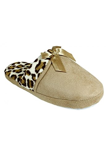 Comfy Microsuede Faux Fur Slippers for Women, Ultimate Fashion and Comfort (Medium, Beige)