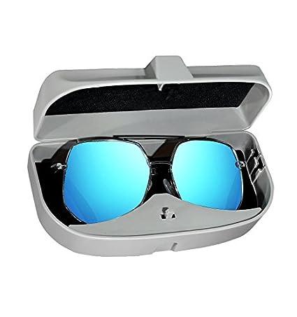Schwarz ZOOENIE Brillenetui f/ür Auto Sonnenblende,Brillenetui K/äfig mit Kartenkarten Clip und Magnetischer Funktion,Universal Sonnenbrille Halter Brillenfach Karteneinschub