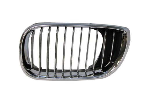 Bmw 3 Series 02-05 Left Front Grille Car Chrome