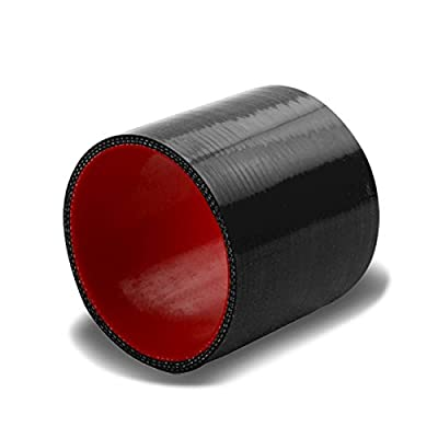 3 inches Straight Turbo/Intercooler/Intake Piping Coupler Silicone Hose (Black & Red): Automotive