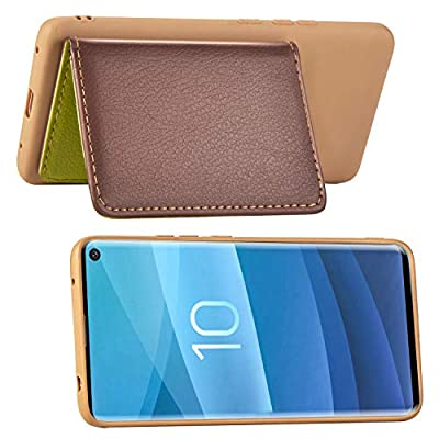 IKASEFU Compatible with Samsung Galaxy S10 Silicone Case Pu Leather Leaf style Wallet Strap Case Card Slots Shockproof Magnetic Flip Stand Function Protective Soft Bumper Cover Case,brown: Musical Instruments